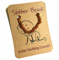 Slobber Beads - baltic amber bracelet or anklet, honey