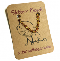 Slobber Beads - baltic amber bracelet or anklet, multi
