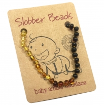 Slobber Beads - baltic amber necklace, rainbow