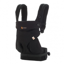 ergobaby - 360 four position baby carrier, pure black