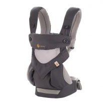ergobaby - 360 four position cool air baby carrier, carbon grey