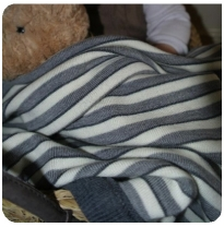Leroy Mac Designs - merino wool blanket, grey stripes
