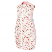 ergoPouch - 0.3 tog organic cotton sleeping bag, pink flowers