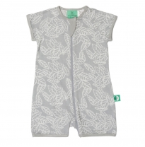 ergoPouch - 0.2 tog bamboo short sleeve sleep wear, rainforest leaves