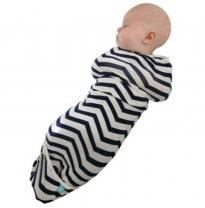 ergoPouch - airCocoon swaddle, chevron navy