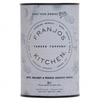 FRANJOS KITCHEN - tanker topper crunchy muesli, date, walnut & maple, 360g