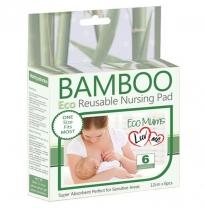 Luv me - bamboo reusable nursing pads, 6pack