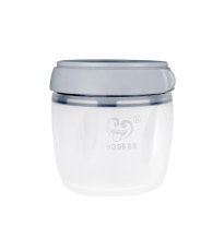 haakaa - silicone storage container, 160ml grey
