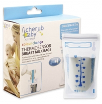 cherub baby - thermosensor breast milk storage bags, 20 pack