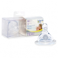 cherub baby - wide neck teats 2pack, medium flow