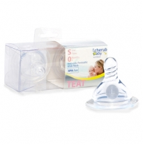 cherub baby - wide neck teats 2pack, slow flow
