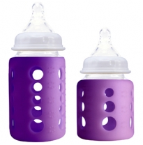 cherub baby - colour change wide neck glass bottle, purple
