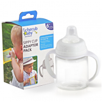 cherub baby - wide neck sippy cup adaptor pack
