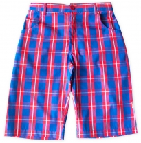 ETERNAL CREATION - cotton shorts, blue boy check