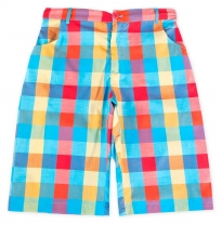 ETERNAL CREATION - cotton shorts, sunshine check