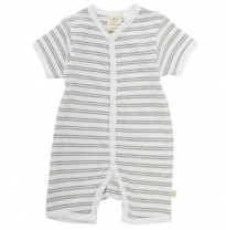 Tiny twig - snap jumpsuit, melange stripes