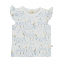 Tiny twig - cap sleeve tee, swan lake