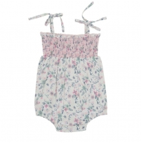 Tiny twig - smocked bodysuit, petals