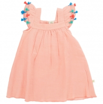 Tiny twig - tassle dress, apricot blush