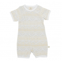 Tiny twig - short sleeve romper, tribal