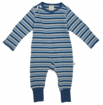 Tiny twig - zip growsuit, marble stripes