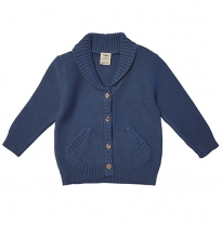 Tiny twig - knit cardigan, bijou blue