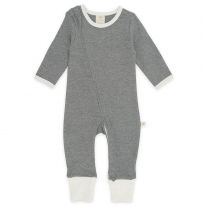 Tiny twig - zip growsuit, diamond stripes