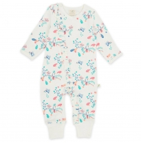 Tiny twig - zip frill growsuit, garden floral