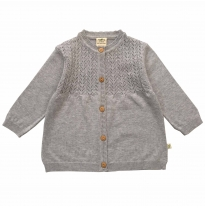 Tiny twig - knit cardigan, grey marle