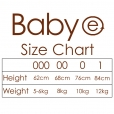 baby e - organic cotton bodysuit, natural