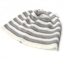 Leroy Mac Designs - merino wool beanie, grey stripes