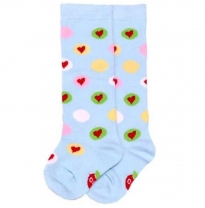 oobi - knee high socks, blue heart