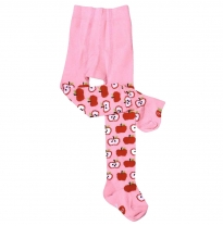 oobi - tights, pink apple