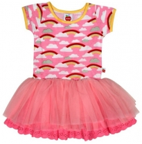 oobi - claudia rainbow dress, pink