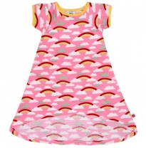 oobi - mabel rainbow dress, pink
