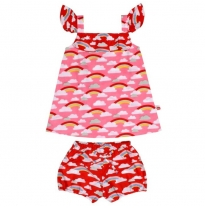 oobi - rosie babydoll dress & bloomers set, rainbow