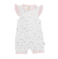 Tiny twig - cap sleeve romper, dotty