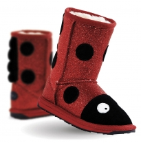 EMU Australia - little creature boot, ladybird sparkle