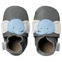 BOBUX - soft sole elephant, grey