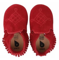 BOBUX - soft sole suede moccasin, red
