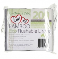 Luv me - flushable bamboo liners, 200pack