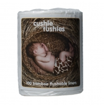 cushie tushies - flushable bamboo liners
