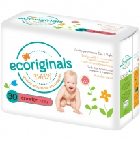 ecoriginals - eco disposable nappies, crawler 7-13kg