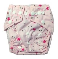 Luv me - swim nappy, pink stars