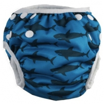 cushie tushies - swim nappy, shark bait