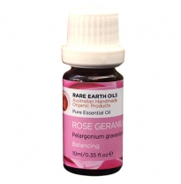 RARE EARTH OILS - essential oil, rose geranium 10ml