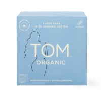 TOM organic - ultra thin night pads, 10pack