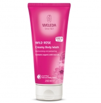WELEDA - wild rose creamy body wash, 200ml