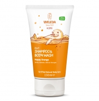 WELEDA - 2in1 shampoo & body wash, happy orange 150ml