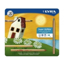 LYRA - super ferby pencils, unlacquered, 18 pack